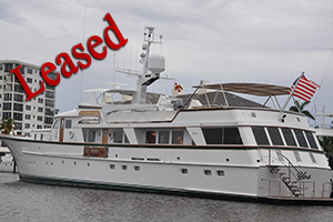 1982 126 Feadship Raised Pilothouse, sale, lease
