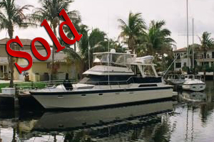 1989 55' Hi Star Cockpit, yachts for sale, lease